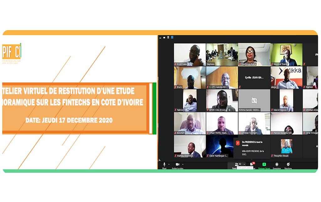 Atelier virtuel de restitution d'une étude panoramique sur les fintech en Côte d'Ivoire